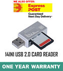 Premium NEW 14 in 1 Card Reader ADAPTER Micro SD to USB 2.0 Support Up To 200GB