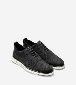 Cole Haan Men's Zerogrand Stitchlite OX Sneaker, Black Wool/Ivory, 8 M US