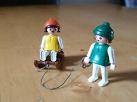 Vintage Playmobil Children With Sled