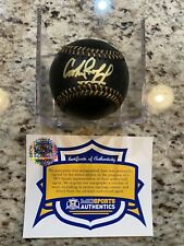 Cookie Rojas Autographed Black MLB Baseball W/ Authentication Kansas City Royals
