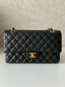 Chanel Black Caviar Medium Classic Falp