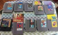 Lot of 10 NES Game Cartridges (Authentic) (NES) Contacts Cleaned!!! (L#316)