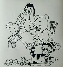 "Winning the pooh vinyl sticker approx  7""x6""  also available in white"