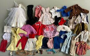 Lot of Vintage Barbie & Ken Doll Clothes Outfits Dress Bathing Suit 1960s