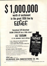 """1956 PAPER AD Eegee Lil' Susan 11"""" Doll Goldberger Toy Co"""