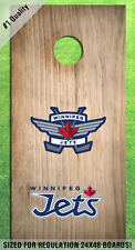 Winnipeg Jets Alternate Logo Corn Hole Bag Toss High Quality Decals HD -Full Set