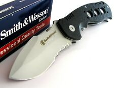 Smith & Wesson LARGE Bulldog Wide Drop Point Blade Folder G10 Knife SW601S