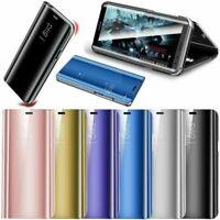 Pour Samsung Galaxy S20 FE S20 S10+ S9 Miroir étui cuir intelligent Flip coque