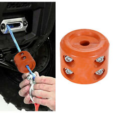Orange ATV Winch Split Cable Hook Stop Stopper Set Rubber Cushion ATV-SCHS M1A3