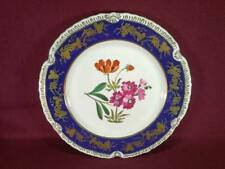 "#8 CHELSEA HOUSE K494 FLORAL DECORATIVE DINNER PLATE 10.75"" - COBALT/GOLD"