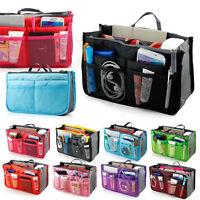 Lady Women Travel Insert Handbag Organiser Purse Large Liner Organizer Bag Tidy