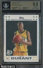 2007-08 Topps #2 Kevin Durant Seattle Supersonics RC Rookie BGS 9.5 w/ (2) 10's