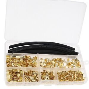 550Pcs U Shape Electric Butt Connector Wire Crimping Kit for 454A/454B/454C/459