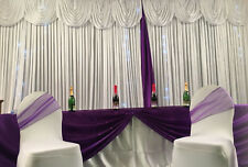 Starlight Wedding Backdrop Curtains, With Swag, With Led Lights  3x6m HIRE