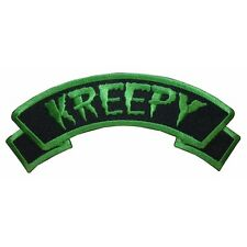 """Kreepy"" Tag Horror Death Zombie Kreepsville Embroidered Iron On Applique Patch"