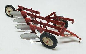 Vintage Tru-Scale 4-Bottom Plow 1/16 Scale Farm Toy