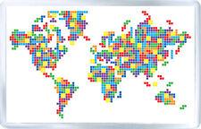 WORLD MAP TETRIS FRIDGE MAGNET IMAN NEVERA