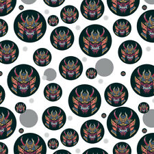Samurai Warrior Japanese Demon Oni Mask Premium Gift Wrap Wrapping Paper Roll