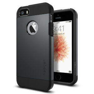 Spigen®Apple iPhone SE / 5 / 5S Case [Tough Armor] Shockproof Slim TPU Cover
