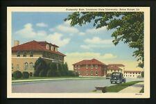 Louisiana LA postcard Baton Rouge, State University Fraternity Row linen Teich