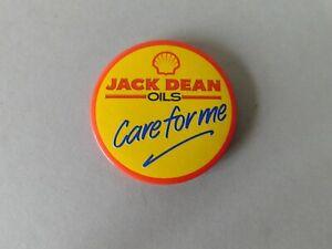 Shell Jack Deans Oils Vintage Pin Badge