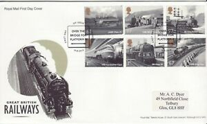 GB Stamps First Day Cover Great British Railways,steam train, loco SHS Sign 2010