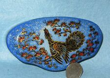 Russian HAND PAINTED LACQUER Capercaillie Grouse Cock of the Wood Box Kholui ART