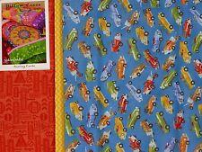 Pillowcase Fabric / Pattern Kit RETROMOBILA Trucks by Clothworks