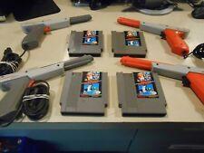 Original NES Nintendo ZAPPER/LIGHT GUN Authentic & Mario Duck Hunt Game Red/Grey