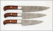 CUSTOM MADE DAMASCUS BLADE 3 Pcs. CHEF/KITCHEN KNIVES SET DC 1002W-3