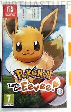 POKEMON, LET'S GO, EEVEE!, Nintendo Switch, Italian Market, Euro, factory sealed