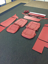 MGB 65-67 Leather interior Carmine red, brand new Buckingham Classic