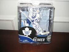 MCFARLANE NHL 30 JAMES REIMER COLLECTOR LEVEL WHITE JERSEY #1041/2000 MAPLE LEAF