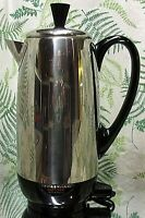 FARBERWARE SUPERFAST COFFEE MAKER PERCOLATOR 12 CUP - MADE IN USA - NICE & CLEAN