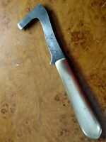 VINTAGE 1936 NEW YORK KNIFE CO WALDEN HAMMER BRAND 3.5 GOLDINE HANDLE RACE KNIFE