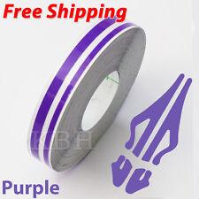 "12mm x 9.8m Pinstripe Double Pin Stripe 4mm 2mm Decal Vinyl Sticker 1/2"" Purple"