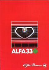 Alfa Romeo 33 1.5 Cloverleaf 1984 UK market sales brochure