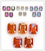 14x10mm Rectangle Glass Crystal Faceted Loose Spacer Beads New Bracelet 10Pcs