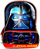 "STAR WARS DARTH VADER FACE BRICK BACKPACK! LEGO LARGE SCHOOL BOOK BAG 16"" NWT"