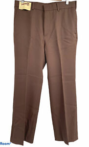 VIntage NOS  70s Levi's Panatela  Action Slacks Brown Pants TALON  zip 34 X 29