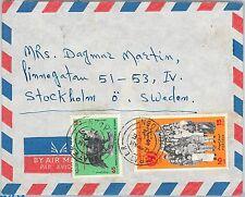 62576 -  YEMEN  - POSTAL HISTORY -  COVER to SWEDEN 1972 - BIRDS