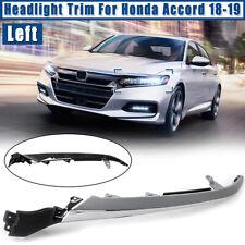 Left Side Front Headlight Headlamp Filler Trim Panel For Honda Accord 2018 2019