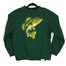 Diamond Supply Co Green Bass Long Sleeve Crewneck Sweatshirt Size Large