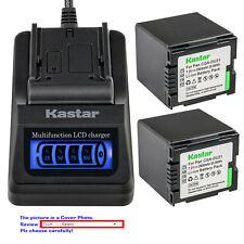 Kastar Battery LCD Quick Charger for Panasonic CGA-DU21 DU21 & NV-GS230 NV-GS250