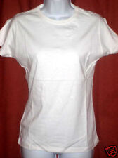 NEW Organic Womens White T-Shirt, S, Eco Friendly Green