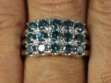 14K WG 2.0 ct. Blue Diamond Ring