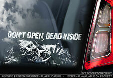 The Walking Dead -Car Window Sticker- 'Don't Open, Dead Inside' - TV Show Zombie
