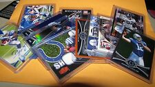 INDIANAPOLIS COLTS Football Lot  - Chrome Luck RC Rainbow RC Auto, Jersey etc