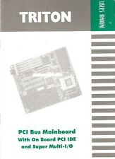 Triton PCI Bus Motherboard / Mainboard User's Manual