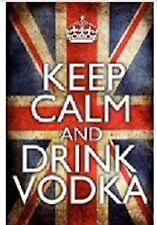 KEEP CALM AND DRINK VODKA ALCOHOL JUMBO FRIDGE MAGNET GIFT BIRTHDAY NO UK P&P